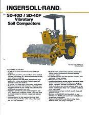 Equipment Brochure - Ingersoll-Rand - Sd-40D F Vibratory Soil Compactor (E3713)