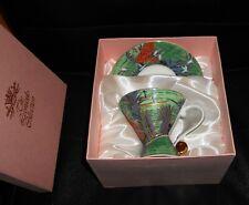 More details for boxed leonardo collection jungle river landscape design porcelain cup & saucer