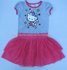 55% OFF! AUTH HELLO KITTY GIRLS TIERED TUTU DRESS 6 / 6-7 YRS BNEW SRP US$18.99