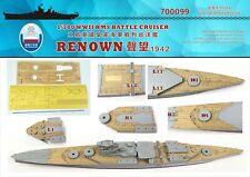 Shipyard 1/700 700099 Wood Deck HMS Battle Cruiser Renown for Trumpeter