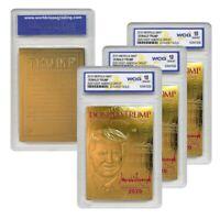DONALD TRUMP 2020 Keep America Great 23K GOLD SIGNATURE Card GEM-MINT 10 *QTY 3