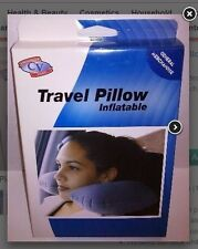 INFLATABLE TRAVEL PILLOW - WASHABLE - COMES WITH A SMALL CARRYING CASE