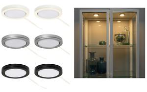 2x Ikea LED Spot Light Kitchen Cabinet Under Unit Cupboard Night Lamp Spotlight