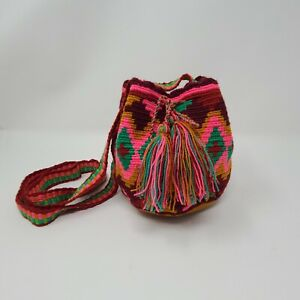 Handmade Artisinal Mochila Bags from Colombia - Small - Multicolor