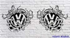 "Volkswagen VW Large 20"" logo Decal Stickers X2 Transporter T6 T5 T4 Campervan"