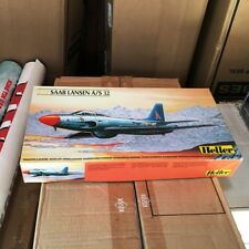 HELLER SAAB LANSEN A/S 32 SWEDISH FIGHTER JET 1/72 SCALE MILITARY AIRCRAFT 80343