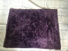 Baby Girl Blanket Plush Purple Satin Couture 29.5x 39 Unbraided