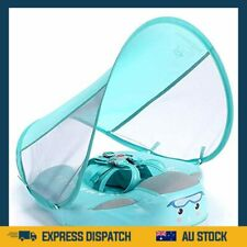 Baby Swim Float with Canopy Solid Infant Trainer Swimming Training Lying Swim AU