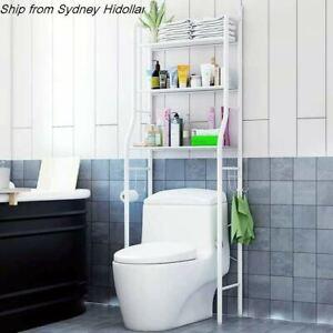 OVER TOILET BATHROOM STORAGE RACK SHELF STORAGE UNIT 3TIER BATHROOM ORGANIZER