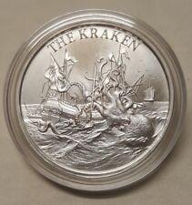 1oz The Kraken .999 Fine Silver Round Coin Icelandic Sea Monster Cephalopod
