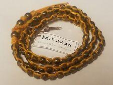 M. Cohen Handmade Designs Brass Beads on Yellow Waxed Corded Wrap Bracelet