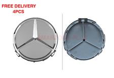 4x 75mm Mercedes Benz wheel caps AMG SET Emblem Logo For C E S SL CLK ML CL