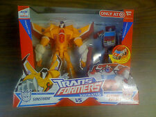 Transformers Animated Target EX Sunstorm & Autobot Ratchet  NEW FREE SHIP US