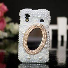 Samsung Galaxy ACE S5830 Hard Case Handy Schutz Hülle Etui Perlen Spiegel 3D