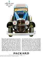 """Packard Classic Car Ad Poster Luxury Automobile 1930s Made In Detroit 8""""x11"""""""