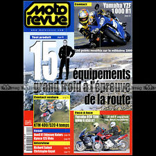 MOTO REVUE N°3404 R1 YAMAHA 850 TDM XV 1600 WILDSTAR KTM 400 520 EXC BUELL X1 99