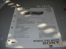 SONY TA-AX410 Integrated Stereo Amplifier Service Manual