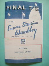 1936 FA Cup final programme,Ticket & free teamsheet Arsenal v Sheffield United.
