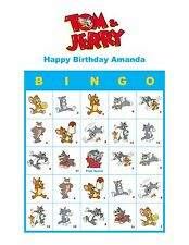 Tom and Jerry Personalized Birthday Party Game Bingo Cards