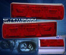 87-93 Mustang LED Brake Stop Running Signal Turn Tail Lights Lamps Red Len Pair