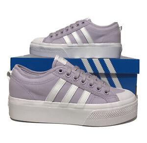 Adidas Nizza Womens Platform Size 8.5 Lavender Purple Casual Athletic Fashion
