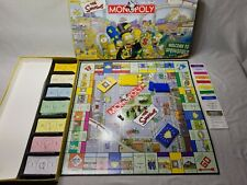 THE SIMPSONS 2001 HASBRO PARKER BROTHERS MONOPOLY GAME SIMPSONS. Used