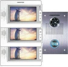 "3 x LCD 7"" video türsprechanlage telefonillo sony cámara de gran angular 110 °"