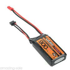 JST VOK Lipo Battery 7.4V 900mAh 25C 2S Universal For RC Racing Drone