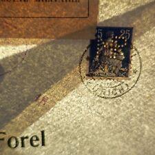 SUISSE TIMBRE PERFORÉ MR ATELIER DE CONSTRUCTION RUTI SUR LETTRE COVER