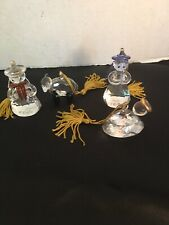 Lenox Christmas Ornaments Prism Crystal Sparkle Holy Family Lot Of 4 Baby Jesus