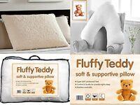 Teddy Bear Flece Soft V Pillow & Pillow Maternity Orthopedic Support Pillow Only