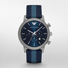 Emporio Armani Luigi Navy Blue Dial Mens Chronograph Watch AR1949