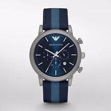 Emporio Armani Luigi Navy Blue Dial Mens Chronograph Watch AR1949