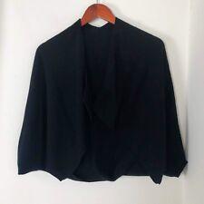Women XS Vince 100% Cashmere Drape Flip Shrug Cardigan Sweater Black Open