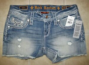 Rock Revival Jelina Shorts E1083H400 Women's Jean Shorts Size 28