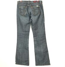 David Kahn Womens Jeans Bootcut Size 29 Actual 31 X 35 Long Distressed Stretch
