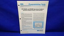HP 8566B/8568B/MODEL 216/226/236-91 PREOGRAMMING NOTE MARCH 1985