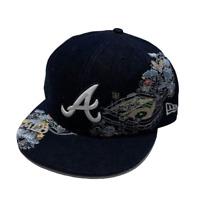 Atlanta Braves New Era MLB 9FIFTY Fitted 7 7/8 Baseball Hat Cap Denim Stadium