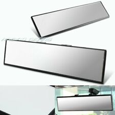 300MM Wide Flat Interior Clear Clip On Panoramic Rear View Mirror Universal 4