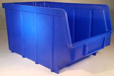 10 Stapelboxen PP Kunststoff Gr.3 blau Sichtlagerkästen Stapelkästen Lagerbox