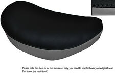 BLACK & GREY CUSTOM FITS SUZUKI LS 650 SAVAGE FRONT LEATHER SEAT COVER