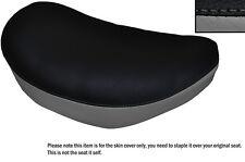 BLACK & GREY CUSTOM FITS SUZUKI LS 650 SAVAGE FRONT LEATHER SEAT COVER