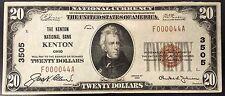 1929 Twenty Dollars Nat'l Currency, The Kenton National City Bank, Kenton, OH!