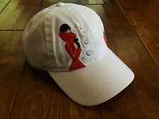Unique Diet Coke Hat , adjustable back, white with woman in red coat