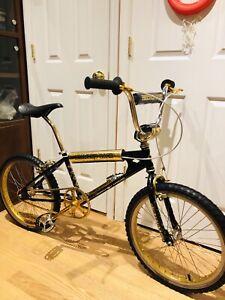 Vintage Gold Schwinn Crankset 170 Redline , Diamondback, Kuwahara ,GT