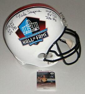 BEARS Gale Sayers signed Full Size STAT HOF helmet w/ 6 Insc JSA AUTO Autograph