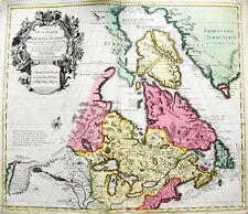 c1730 Canada Kanada North America Great Lakes Detroit Coloured Map De L'Isle
