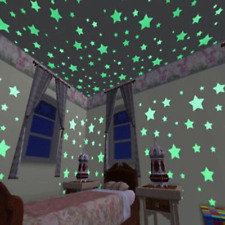 3D Stars Luminous In The Dark Glow Stickers Fluorescent Pvc Wall Art Home