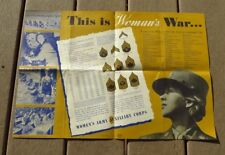WW2 US Army Military Facts about WAAC Womens Auxiliary Corps Recruiting Poster