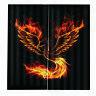Fire phoenix curtain Decorative Curtains Window Panel Drapes Cartoon 150*166cm-%